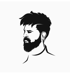 hipster figure with beard and hair vector image