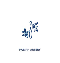 Human artery concept 2 colored icon simple line vector