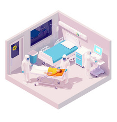 Isometric hospitalization with coronavirus vector