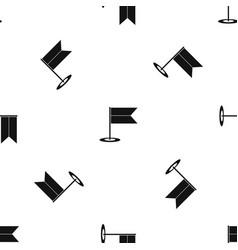 Locator flag pattern seamless black vector