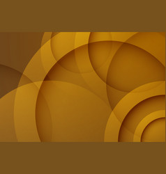 Modern brown backgrounds abstract 3d circle vector