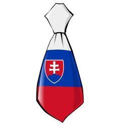 Necktie in national colours of Slovakia vector
