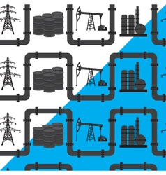 Oil gas and electric power industry Seamless vector
