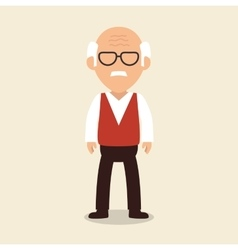 old man character avatar icon vector image