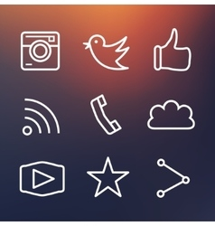 Outline design icons Represents approval vote vector