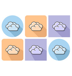 outlined icon clouds cloudy weather vector image