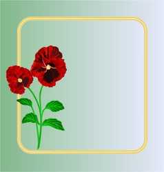 Pansies spring flowers frame place for text vector image