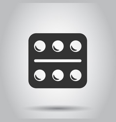 pill icon in flat style tablet on white vector image