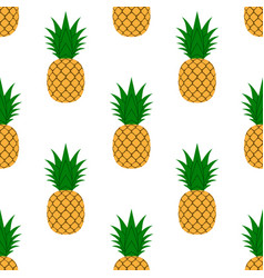 Pineapple leaf seamless pattern tropical fruits vector