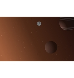 Planet outer space vector