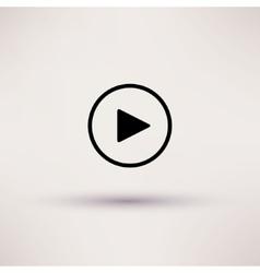 Play button web icon isolated vector