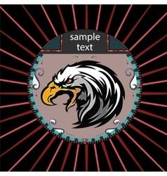 Portrait of a eagle vector image