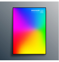 poster with colorful gradient texture design for vector image