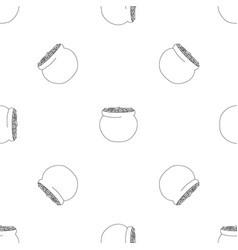 potty with coin pattern seamless vector image