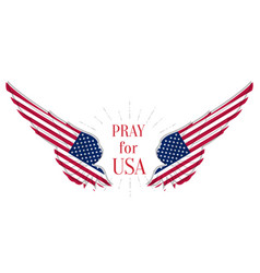 Pray for usa coronavirus outbreak in america vector
