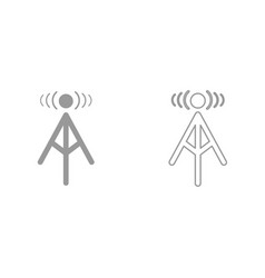 radio tower it is black icon vector image