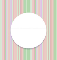 Round frame on striped seamless background vector