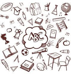 School accessories vector image