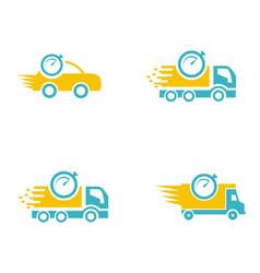 Set collection car delivery logo vector