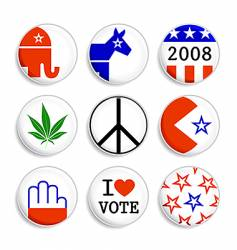 Set of election badges vector