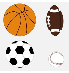 Set of four balls vector image
