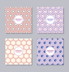 set of four creative covers with abstract vector image