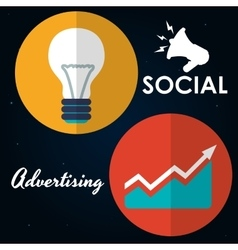 Social Advertising and Digital Marketing design vector image