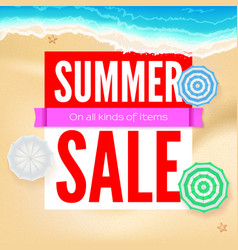 Summer sale selling ad banner text design vector