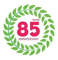 Template Logo 85 Anniversary in Laurel Wreath vector
