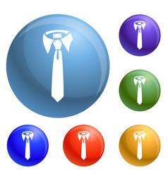 tie icons set vector image