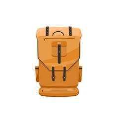 travel bag back pack isolated trekking backpack vector image