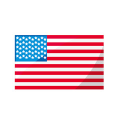 united states flag symbol vector image vector image