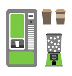Vending machines coffee and mechanical vector