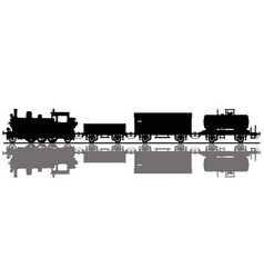 vintage freight steam train vector image