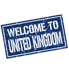 welcome to united kingdom stamp vector image