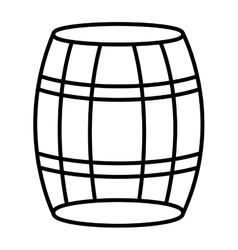 white barrel and black stripes graphic vector image vector image