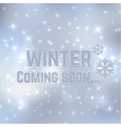 Winter coming soon vector image