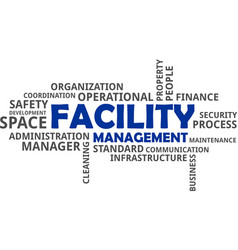 Word cloud - facility management vector