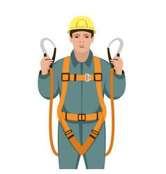 Worker safety belts vector
