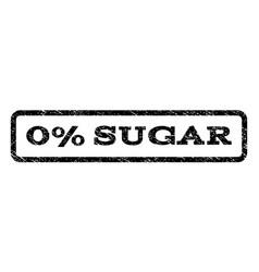 0 percent sugar watermark stamp vector image