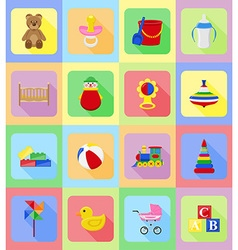baby flat icons 19 vector image vector image