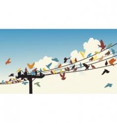 bird roost vector image vector image