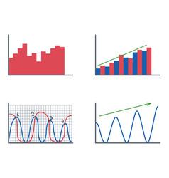 business data graph analytics elements bar pie vector image