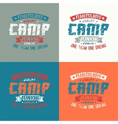 Junior sports training camp emblem vector image vector image