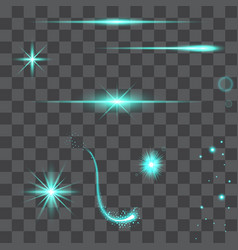 light glow flare effects vector image vector image
