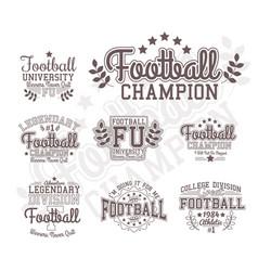 monochrome football badges vector image vector image