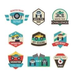 Monster Truck Emblems vector image