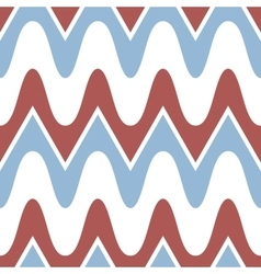 Simple blue red scalloped seamless pattern vector image