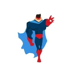 Superhero in Action silhouette in different poses vector image