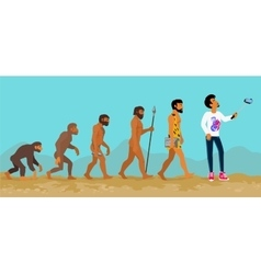 Concept of human evolution from ape to man vector